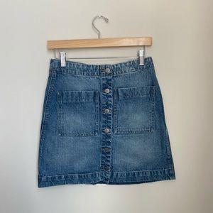Lucky Brand denim button up skirt   BRAND NEW